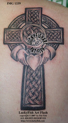 Claddagh Heart Cross Celtic Tattoo Design