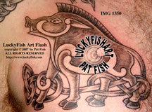 Raging Pictish Boar Celtic Tattoo Design 1