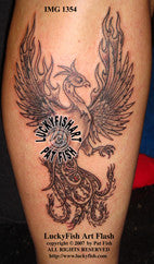 Victory Phoenix Tattoo Design 1