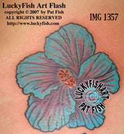 California Hibiscus Tattoo Design