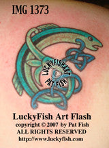 Salmon Charm Celtic Tattoo Design 1