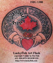 Canadian Claddagh Celtic Tattoo Design 1
