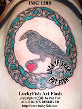 Crow Mother Celtic Tattoo Design 1