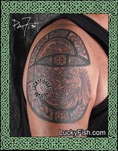 Illuminated E Celtic Tattoo Design 3