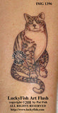 Contented Cat Tattoo Design 1