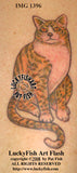 Contented Cat Tattoo Design 2