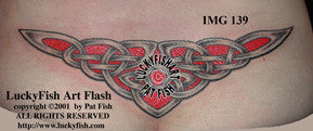 Victory Celtic Lower Back Tattoo Design 1
