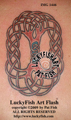 Oval Tree of Life Celtic Tattoo Design 1