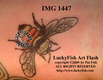 Bombus Bee Tattoo Design 1