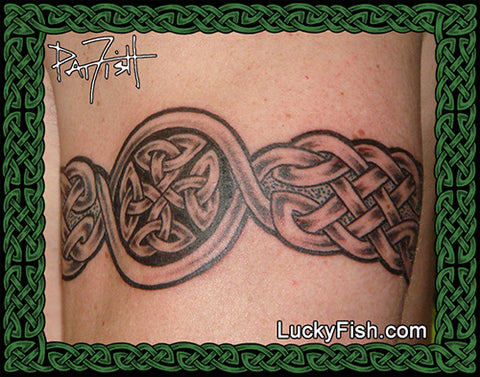 Cross in Band Celtic Tattoo Design