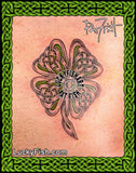 Knotwork Clover Celtic Tattoo Design 6
