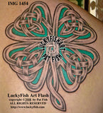 Knotwork Clover Celtic Tattoo Design 1