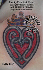 Luckenbooth Scottish Heart Tattoo Design 1