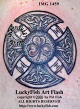 Irish Fireman's Cross Celtic Tattoo Design