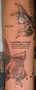 Fancy Goldfish Tattoo Design 1
