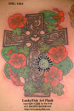 Nasturtium Cross Celtic Tattoo Design 1