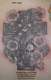 Nasturtium Cross Celtic Tattoo Design 2