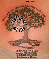 Whispered Secrets Tree Tattoo Design 1