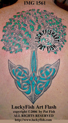 Anchored Tree Celtic Tattoo Design