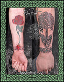 Anchored Tree Celtic Arm Tattoo Design