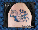 Scythian Leopard and Elk Tattoo Design 2