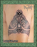 Hugin and Munin Celtic Viking Tattoo Design 2
