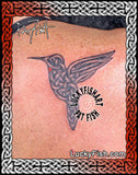 Celtic Hummingbird Flying Tattoo Design