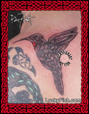 Celtic Flying Hummingbird Tattoo Design