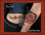 Claddagh Fire Dragon Celtic Tattoo Design
