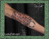 Elbow Armor Celtic Tattoo Design 2