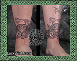 Uffington Cuff Celtic Tattoo Design 3