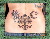 Celestial Tableau Tribal Celtic Tattoo Design 2