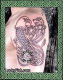 USA & Eire Heritage Celtic Tattoo Design 2