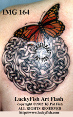 Butterfly Breakaway Celtic Tattoo Design 1