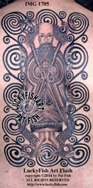 St Brendan in the Waves Celtic Tattoo Design 1