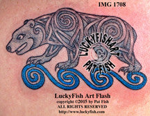 Celtic Pictish Bear Tattoo Design 1