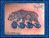 Celtic Pictish Bear Tattoo Design 2