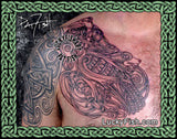Celtic Eagle-Dog-Eel Tattoo Design 3