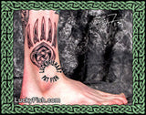 Celtic Bear Paw Mark Tattoo Design 2