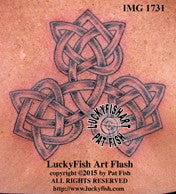 Love Triangle Celtic Tattoo Design 1