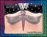 Celtic Dragonfly Tattoo Design 3
