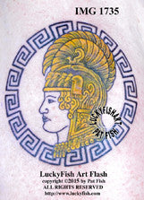 WAC Pallas Athena Tattoo Design 1