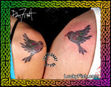 Lovebirds Tattoo Design 2
