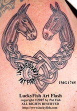 Stubborn Love Celtic Mule Tattoo Design 1
