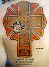 First Responder Celtic Cross Tattoo Design 1