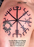 Viking Vegvisir Tattoo Design