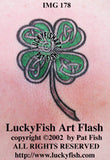 Four Leaf Clover Celtic Tattoo Design 1