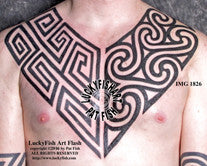 Pictish Tribal Chest Plates Tattoo Design