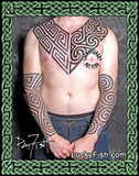 Pictish Tribal Chest Plate Tattoo Design