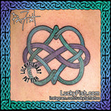 Celtic Infinite Hearts Love Tattoo Design